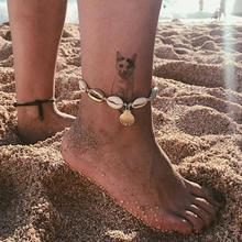 imixlot Anklets for Women Shell Foot Jewelry Summer Beach Barefoot Ankle on Leg Ankle Strap Bohemian Jewelry Accessories цена