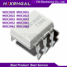 10 個MOC3020 MOC3021 MOC3022 MOC3023 MOC3041 MOC3043 MOC3052 MOC3061 MOC3062 MOC3063 DIP6 dipフォトカプラ新オリジナルigmopnrq