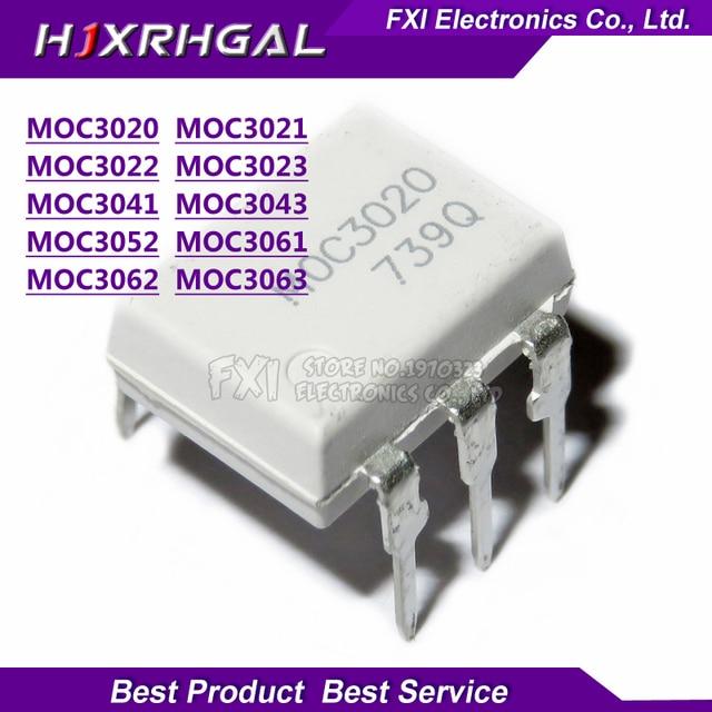 MOC3020 MOC3021 MOC3022 MOC3023 MOC3041 MOC3043 MOC3052 MOC3061 MOC3062 MOC3063 DIP6 DIP optoacoplador nuevo original igmopnrq, 10 Uds.