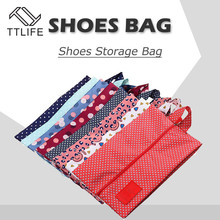 TTLIFE Portable Waterproof Travel Shoe Bag Pouch Convenient Storage Organizer Shoes Sorting Zipper Tote Nylon