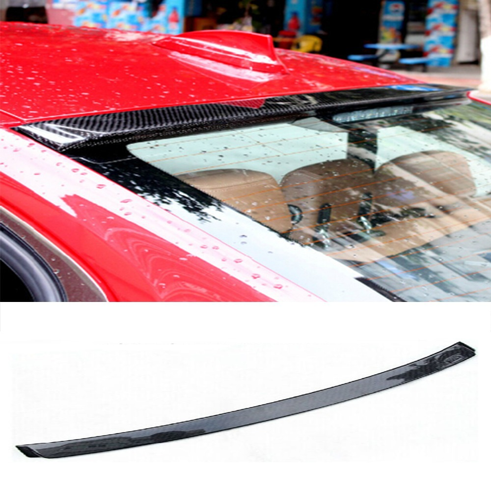 F30 AC Style Carbon Fiber Car Rear Roof  lip spoiler wing for BMW 3 Series 2013-2016