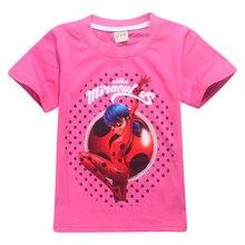 Milagrosa Mariquita Camisetas Niñas Niños Cosplay Tee Casual Tops Traje Ropa de Niños Camisa(China (Mainland))