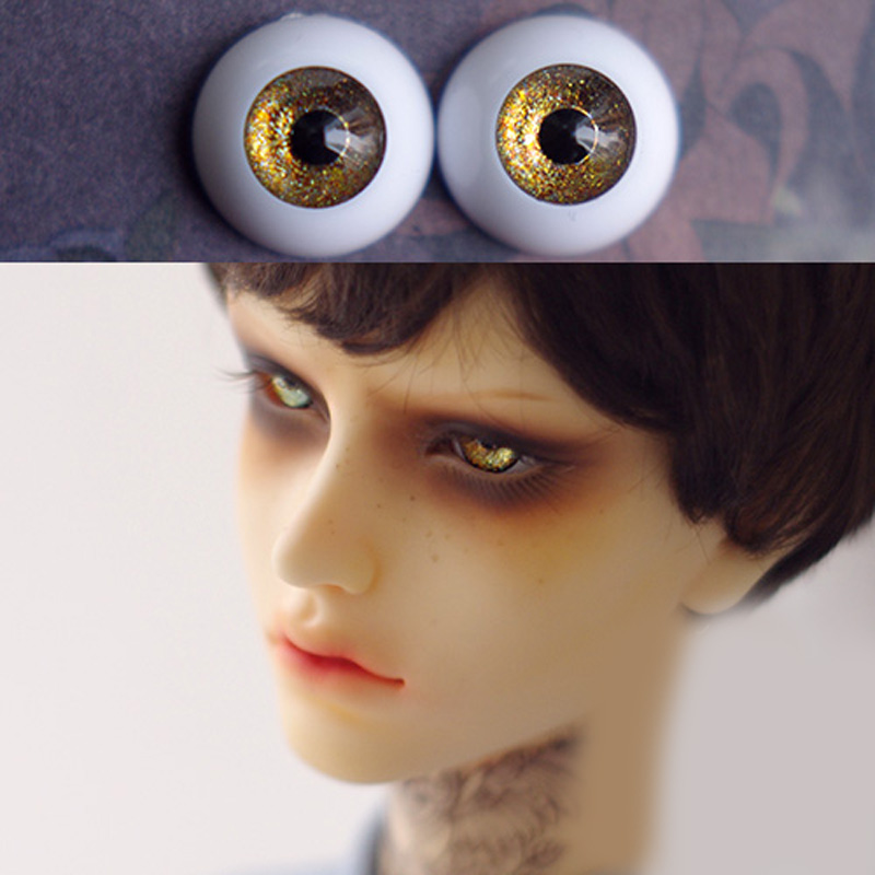 shining dark golden Bjd Eyes for BJD Dolls toys eyeball for 1/3  1/4 1/6 SD Dolls 16mm 18mm 20mm 22mm Acrylic EYEs for toy  doll uncle 1 3 1 4 1 6 doll accessories for bjd sd bjd eyelashes for doll 1 pair tx 03