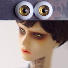 все цены на shining dark golden Bjd Eyes for BJD Dolls toys eyeball for 1/3  1/4 1/6 SD Dolls 16mm 18mm 20mm 22mm Acrylic EYEs for toy  doll онлайн