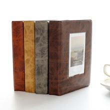 Retro Photo Album 32 Pockets 5 Inch Book Mini Film Storage Picture Bag for Fujifilm Instax Wide 300, 210 Films