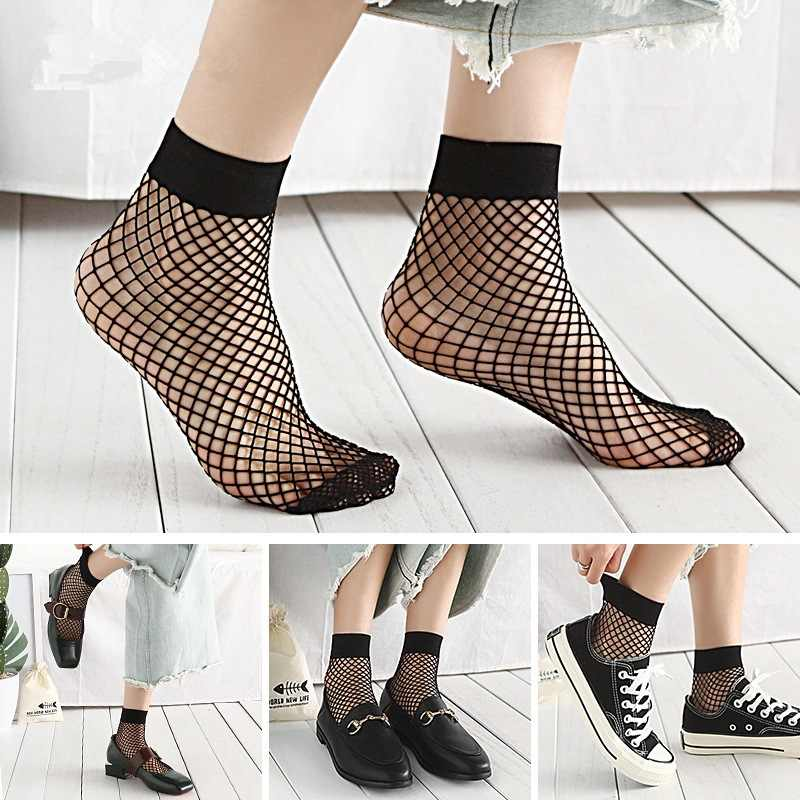 1 pair Fashion Summer Sexy Breathable Female Socks Fishnet Socks The Grid Springtime Sexy Ladies Mesh Sox
