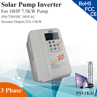 11KW 25A 3phase 380VAC MPPT solar pump inverter for 10HP 7.5KW water pump