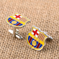 JM New Famous Football Club National Team Logo Cuff Links One Pairs Football Club Barcelona Cufflink Men Jewelry