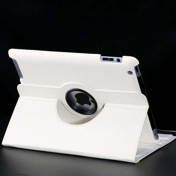 Leather Smart Stand Flip Case For iPad 4 for iPad 3 for iPad 2 Rotating Cover