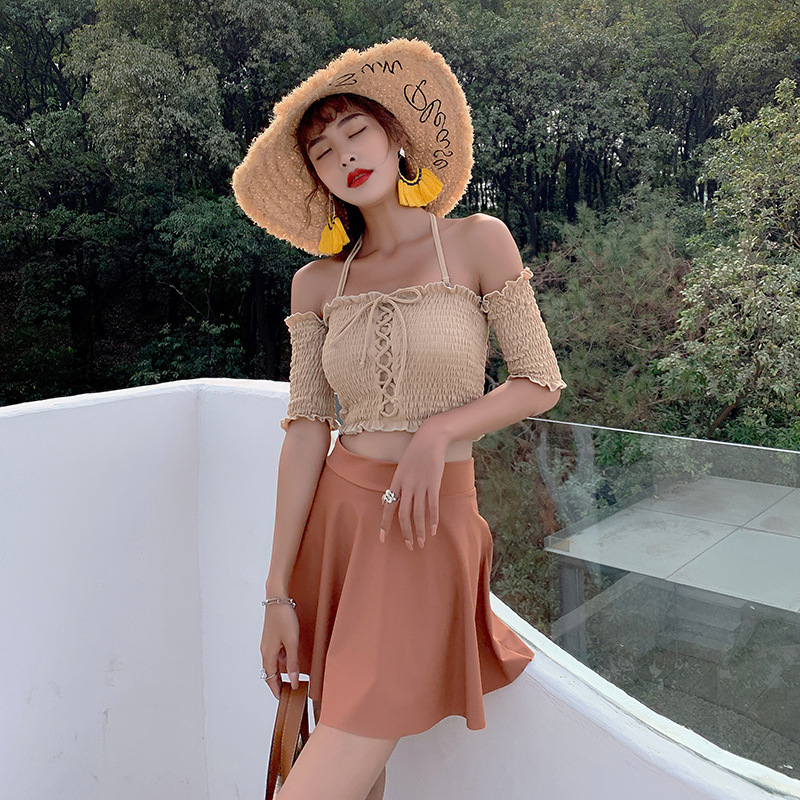 Swimsuit Woman Two Piece Swimsuits Pieces Separate For Women Bikini 2 New Sexy Split 2019 Striped Polyester Women's Swimsuit