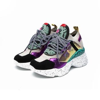 Μοντέρνα γυναικεία sneakers πλατφόρμα