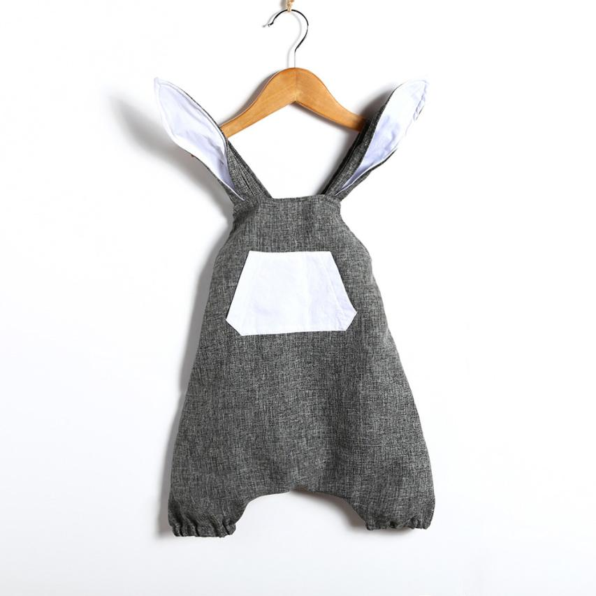 romper   babys clothes Infant Baby Girls Cute Easter Clothes Rabbit Ear Backless   Romper   Outfits Clothes M16