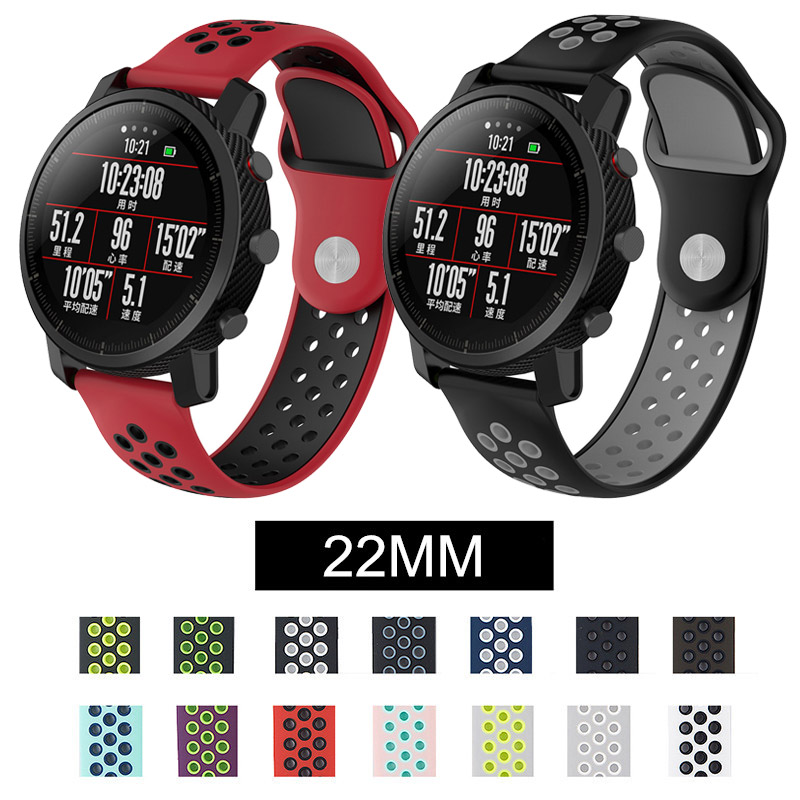 Silicone Band For Huami Amazfit 2 2s Stratos Bracelet For Amazfit Pace Quick 22mm Watch Band Strap For Samsung Gear S3 Frontier