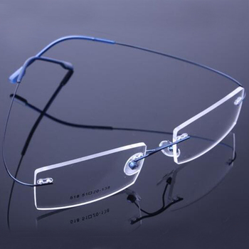 цены Rimless Titanium Eyeglasses Frames Women Men Flexible Optical Frame Prescription Spectacle Frameless Glasses Eye glasses