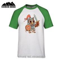 8f5c21327 On Sale Summer Outdoor T shirt Knight Owl Animal Pun Shirt funny Print T- shirt