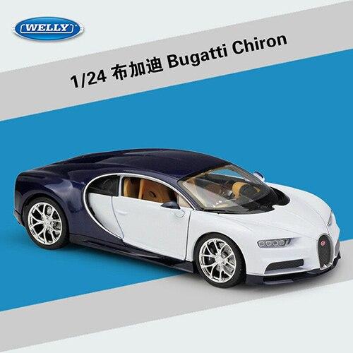 Welly 1:24 Bugatti Chiron Golden Diecast Model Car Vehicle New in Box