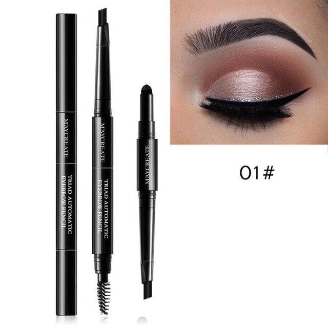 3 in 1 Multifunctional Eye Brow Set for Women Waterproof Brow Pencil +  Powder + Brush Waterproof Cosmetic Eyebrow Pencil c272c2002