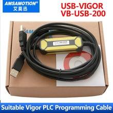 USB VIGOR מתאם מתאים מרץ VH VB M סדרת PLC תכנות כבל USB כדי RS232 להוריד כבל VBUSB200 PC VIGOR