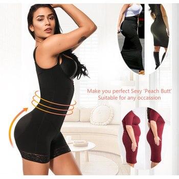 HEXIN Clip and Zip Waist Lace Slimming Shaper Corset Control Shapewear Butt Lifter Strap Body Shaper Underwear Bodysuit Women 3