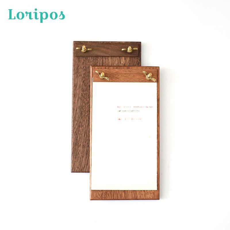 Vent nordique papier Info affichage Restaurant Menu Stand café boutique boisson liste Clip porte-photo bureau en bois fichier conseil avec Clip