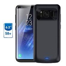 Для Galaxy S8 плюс Батарея случае 5500 мАч Батарея Портативный Зарядное устройство защитный зарядный Чехол Пакет Запасные Аккумуляторы для телефонов Чехол для Samsung S8