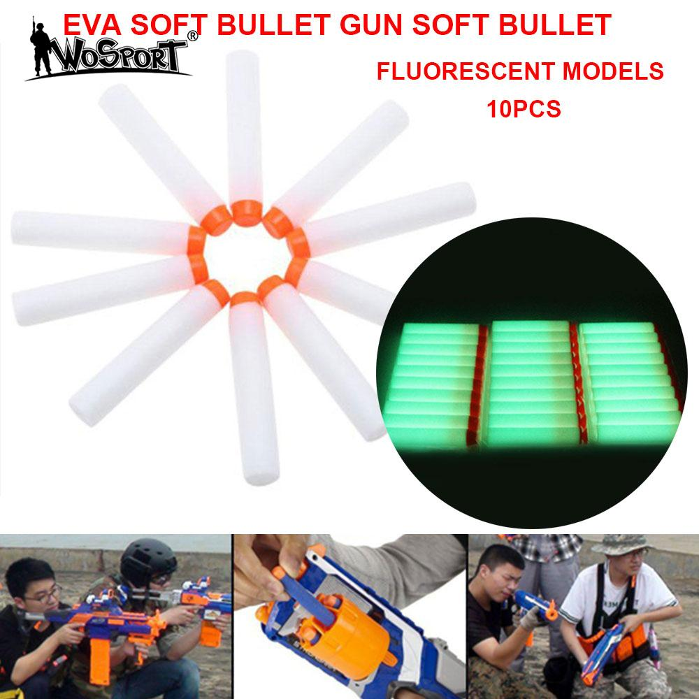 EVA Practical Outdoor Paintball Shooting Supplies Fluorescent Darts Kids Toy Luminous Bullets Durable Tactical ...