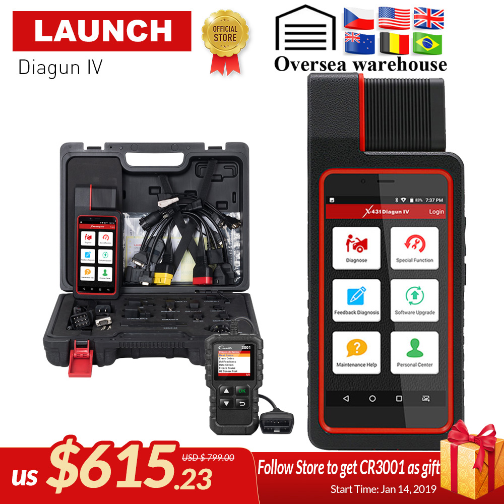 Запуск X431 Diagun IV Авто полный Системы инструмент диагностики Поддержка Bluetooth/Wi-Fi с 2 год бесплатного обновления лучше, чем diagun iii