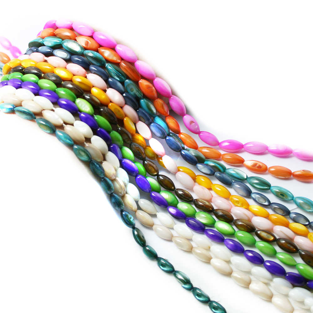 "Hot Sale 15"" Strand Natural mop shell beads fits for Bracelet and Necklace Jewelry Making DIY Mix Color Pick"