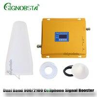 Dual Band GSM 3G Cellular Signal Repeater GSM900 3G 2100 UMTS Cellphone Dual Band GSM WCDMA