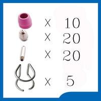 FREE SHIPPING Welding Accessories WSD 60P P60 Plasma Consumables KIT Nozzles 0 9 40Amp Plasma Nozzles