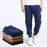 Autumn Boy Pants Spring Cotton Trousers Children Sweatpants Sports Casual Long Pant For 5 14