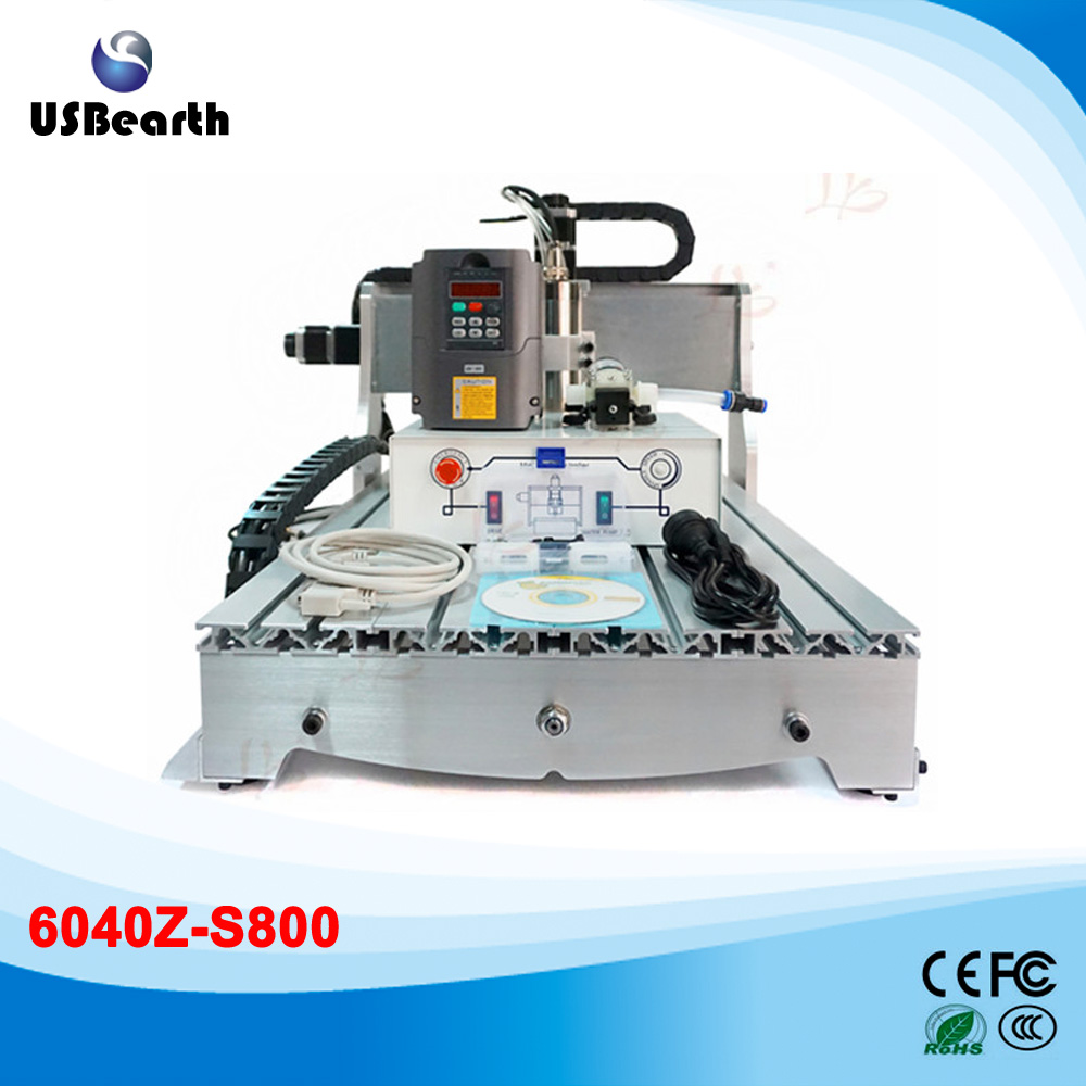 CNC router 6040Z-S 800W spindle, water cooled Engraving Drilling Milling Machine,Free tax to Russia 4 axis cnc router 3040z s 800w cnc spindle cnc milling machine with dsp0501 controller free ship to russia no tax