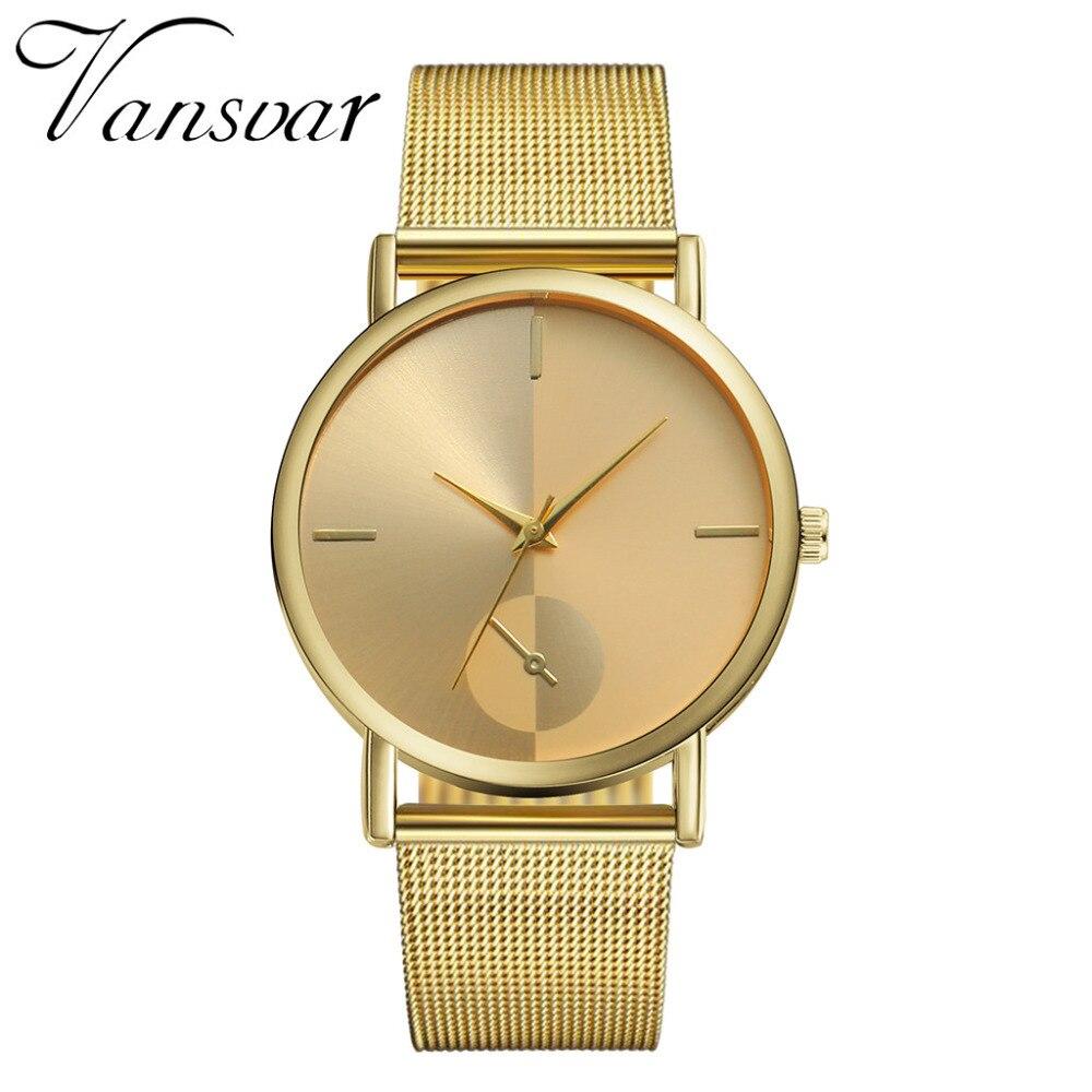 Simple Stainless Steel Mesh Ladies Wrist Watch New Luxury Brand Women Watches 2019 Casual Quartz Watch Gift Clock Zegarek Damski