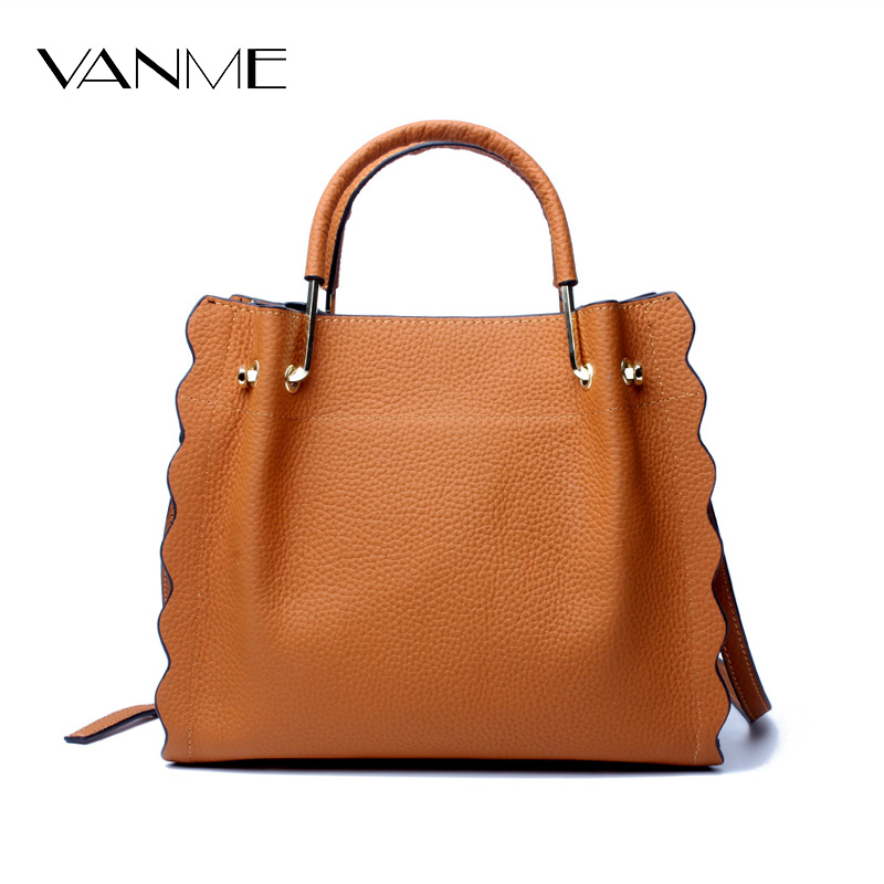 Fashion Genuine Leather Bag Large Capacity Cowhide Tote Bags Handbag Shoulder Messenger Bags Designer Brand Women Crossbody Bag [whorse] brand luxury fashion designer genuine leather bucket bag women real cowhide handbag messenger bags casual tote w07190