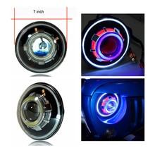 RGB Control by Bluetooth Led DEMON EYE Headlights Evil Eyes for Jeep Wrangler TJ JK Hummer H1 H2 Defender Harley rgb Led light