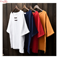 Short Sleeve Plate Cloth Buttons Loose T-shirt Women Blouse Large Size Vintage Lazy Summer Cool Camisa
