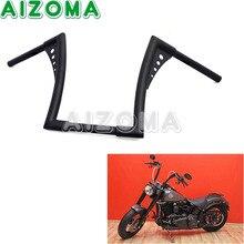 """Guidão da motocicleta Preta Cabide MACACO 1-1/4 """"Fat Bar 12"""" Rise 30-1/2 """"Wide Arrastar barras Para Harley Davidson FLST FXST Sportster XL"""