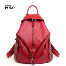 Модные дизайнерские кожаные женские рюкзак шнурок школьные сумки для подростков девочек Женский рюкзак путешествия gw092