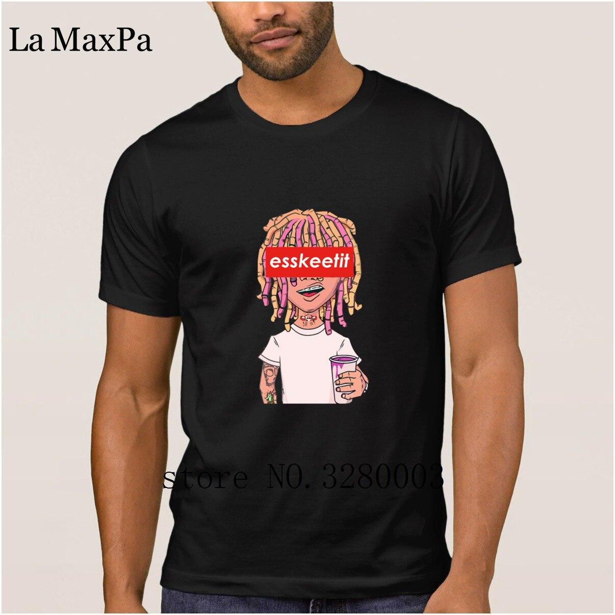 Crear grandes hombres lil bomba magra taza esskeetit dinero rap cantante Camiseta Hombre verano imágenes de los hombres euro tamaño Fit