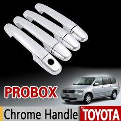Para Toyota Probox 2002-2016 cromo cubierta de la manija Trim Set 2003, 2005, 2006, 2008, 2011, 2013 accesorios de coche pegatinas estilo de coche