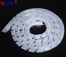 Мм 12 мм-30 мм провода Организатор обёрточная Бумага трубки огнестойкий белый Спираль обёрточная бумага ping полосы кабель-каналы рукава обмотки трубы…