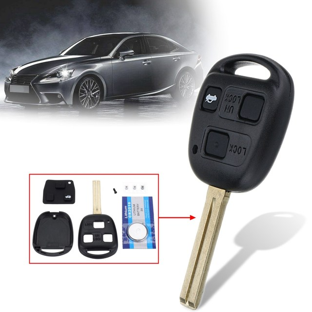 3 Buttons Unlock Lock Trunk Remote Key Fob Case Shell With Cr2016
