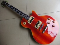 Wholesale Electric Guitar G Cnbald MAHOGANY Body LP Standard Guitarra Electrica In Orange Colorful 110825
