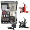 Professional Complete Tattoo Kit Tattoo Starter Set Body Art  kit  2 Machines TK020 Free Shipping