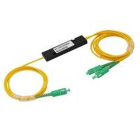 Free shipping 10 Pieces FTTH 1X 2 SC APC FBT Fiber Splitter SM Single Mode ALLSTRONG Brand Fused Biconical Taper Fiber Splitter