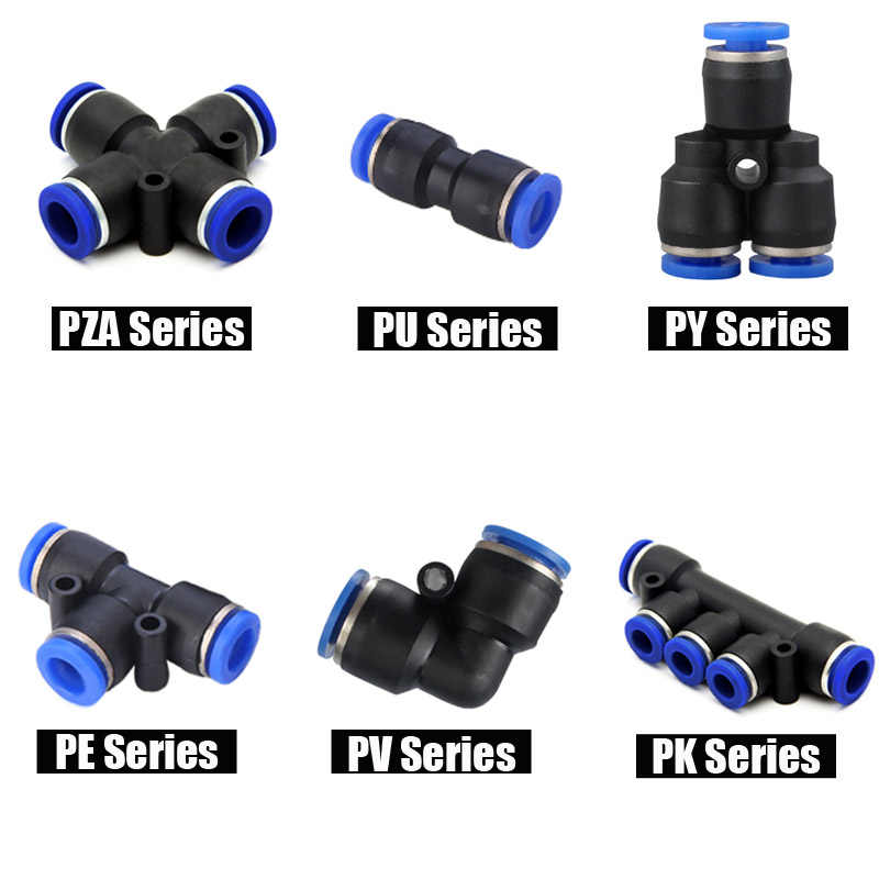 1pc Pneumatic Fittings Quick Push in Connector Air Pipe Fittings For 4mm 6mm 8mm 10mm 12mm Hose Tube Straight Fittings