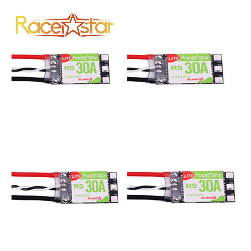 Best Deal 4PCS/lot Racerstar RS30A Lite 30A Blheli_S BB1 2-4S Brushless ESC For FPV Racer(China)