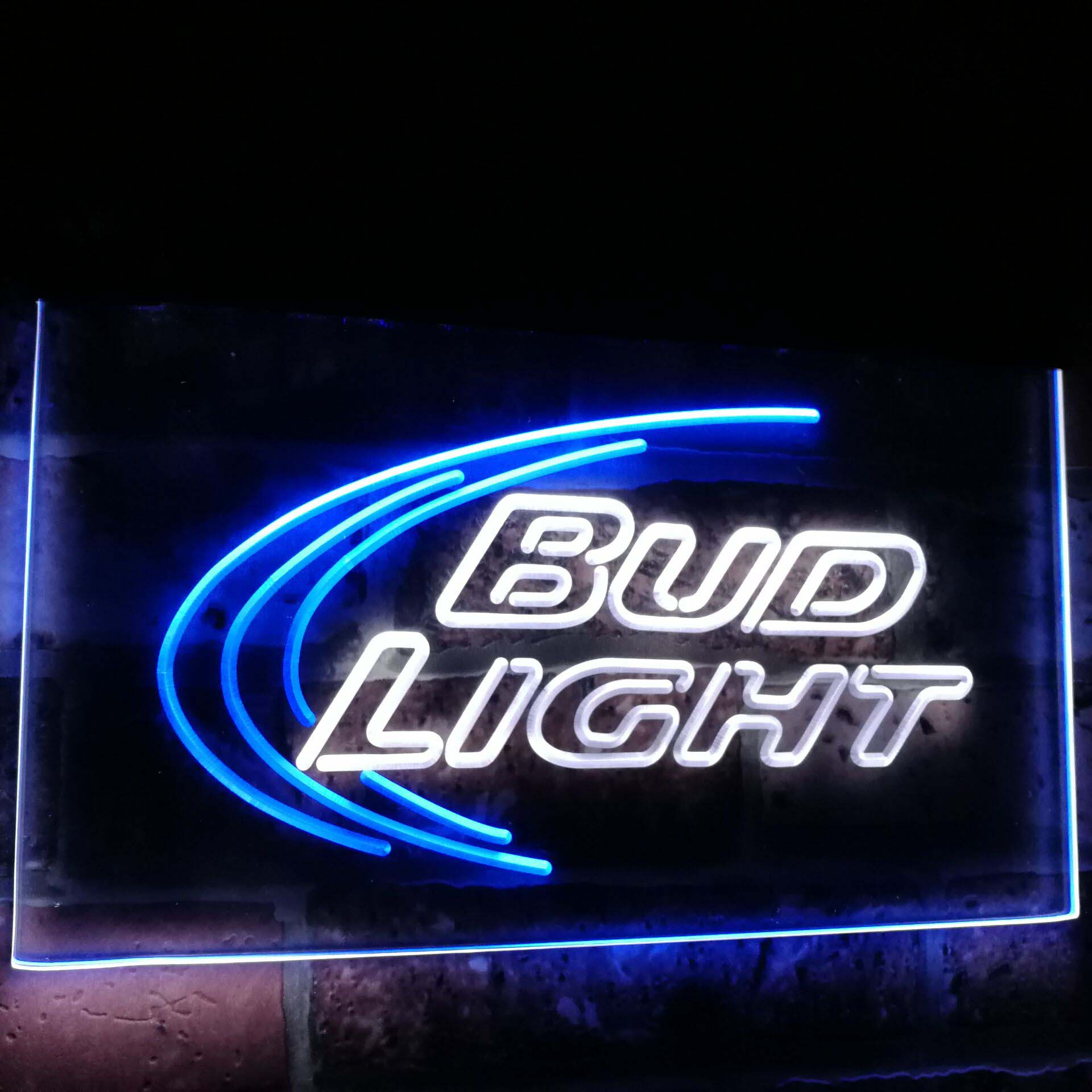 Bud Light Beer Ice Bar Decoration Gift Dual Color Led Neon Sign st6 a2003