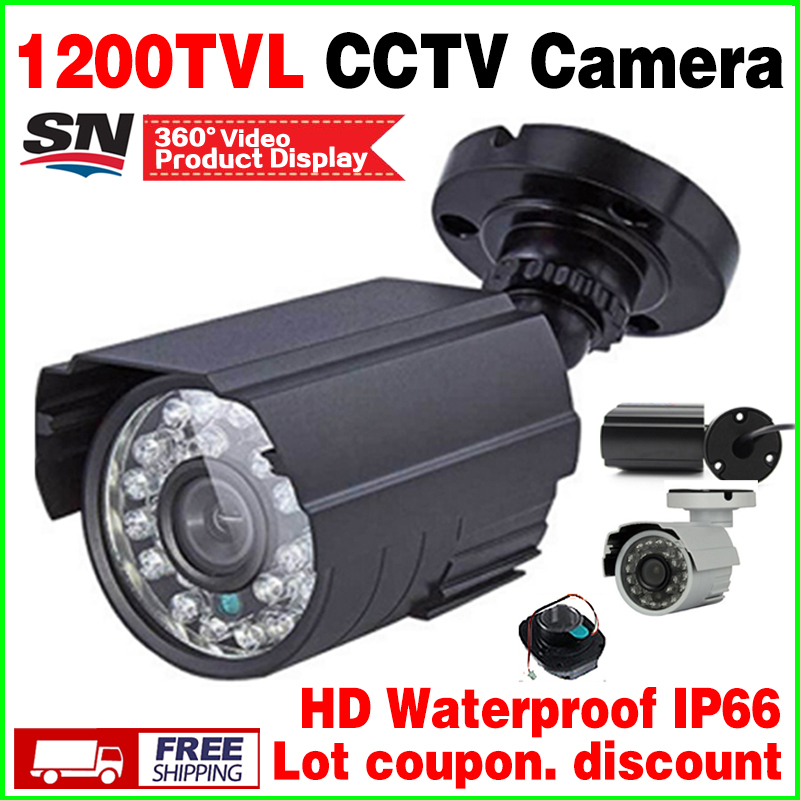 Mini Metal 1/4cmos 1200TVL CCTV Security Surveillance HD Camera IR CUT infrared Night Vision Metal Waterproof IP66 Color vidicon big sale 1 3cmos 1200tvl cctv hd dome camera surveillance indoor 22led infrared ir cut night vision monitoring security vidicon