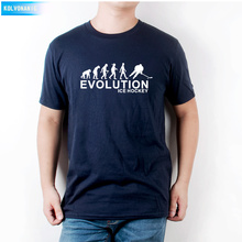 KOLVONANIG Casual Popular EVOLUTION ICE HOCKEYS Printed Mens T-Shirt Cotton Male Tops Tee Hot Sell Fashion O-Neck T Shirts T-06